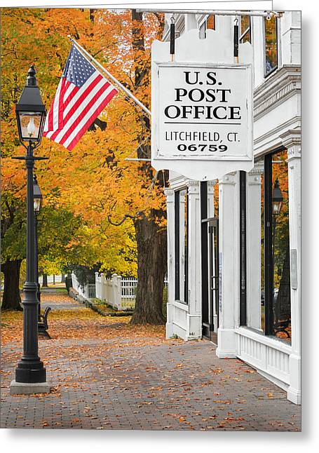 Litchfield County Greeting Cards - Litchfield Connecticut Greeting Card by Bill  Wakeley