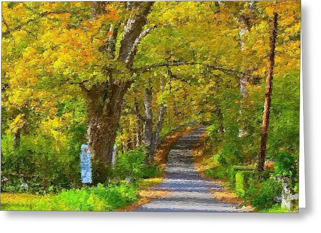 Photos Of Autumn Digital Greeting Cards - Litchfield Hills in Autumn Greeting Card by Mario Carini
