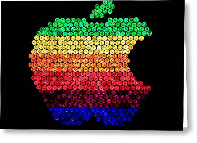 80s Greeting Cards - Lite Brite Macintosh Greeting Card by Benjamin Yeager