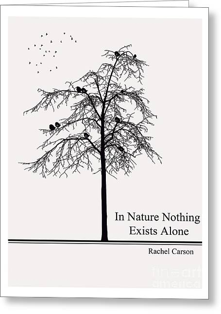 Spring Greening Greeting Cards - Literary Quote- Rachel Carson Greeting Card by Trilby Cole