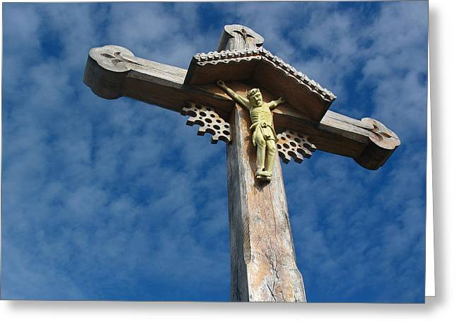 Holy Week Greeting Cards - Lithuanian Crucifix Greeting Card by David T Wilkinson