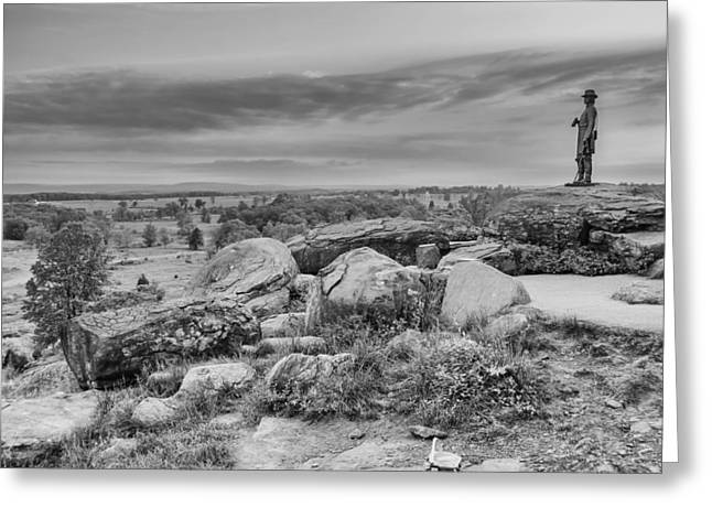 Devils Den Greeting Cards - Litle Round Top - Gouverneur Warren Greeting Card by Guy Whiteley