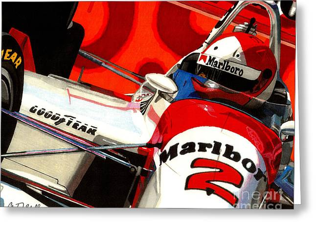 Indy Car Greeting Cards - Little Al Greeting Card by Cory Still