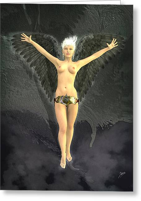 Archangel Digital Art Greeting Cards - Little Angel Sodomite Greeting Card by Joaquin Abella