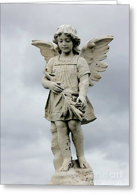 Sculpture Photographs Greeting Cards - Little Angel Greeting Card by Sophie Vigneault