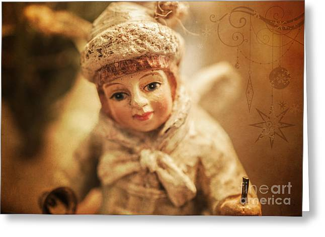 Seraphim Angel Photographs Greeting Cards - Little Angel Greeting Card by Terry Rowe