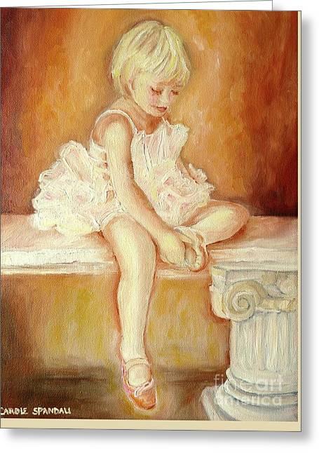 Little Ballerina Greeting Card by Carole Spandau