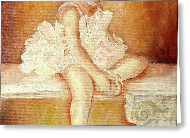 LITTLE BALLERINA Greeting Card by CAROLE SPANDAU