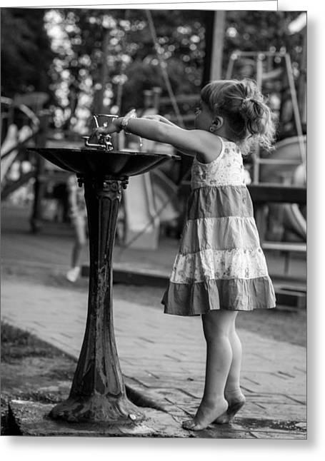 Tippi Greeting Cards - Little Ballerina Greeting Card by Sebastian Tibichi
