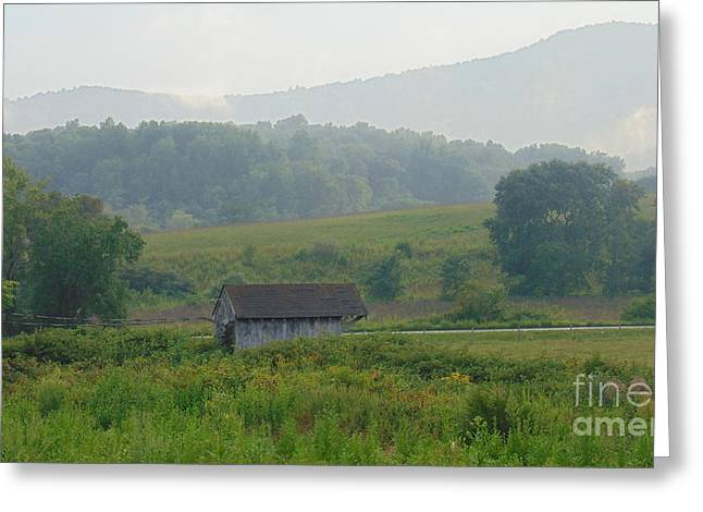 Little Barn Of North Garden Greeting Card by Charlotte Gray