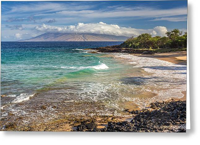 Nudist Greeting Cards - Little Beach Maui Sunrise Greeting Card by Pierre Leclerc Photography