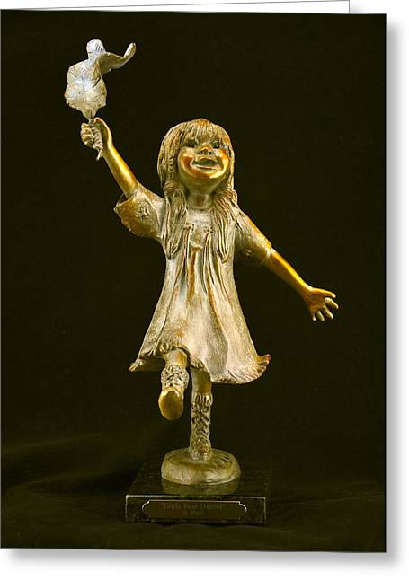 Custom Sculptures Greeting Cards - Little Bear Dancer Greeting Card by Barb Maul