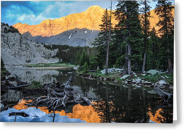 Climb Tree Greeting Cards - Little Bear Peak and Lake Como Greeting Card by Aaron Spong