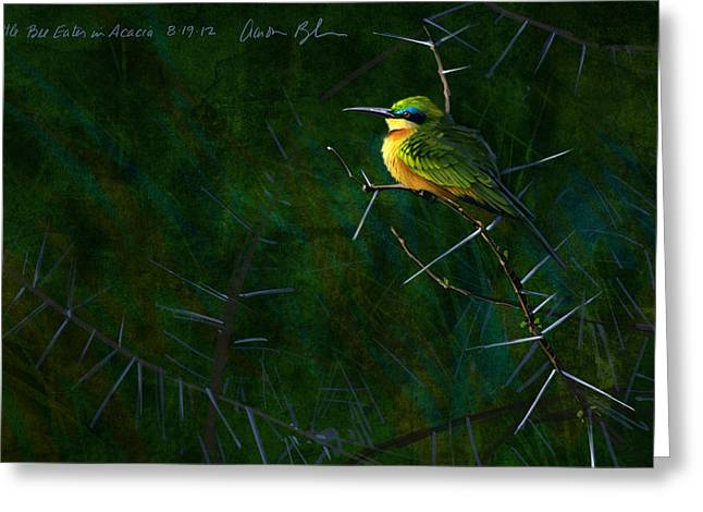 Bees Greeting Cards - Little Bee Eater Greeting Card by Aaron Blaise