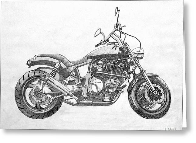 Steering Drawings Greeting Cards - Little big bike Greeting Card by Stephen Brooks