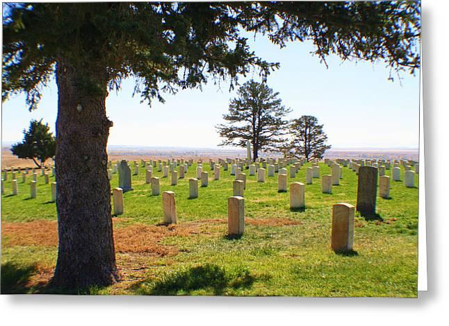 Little Big Horn Photographs Greeting Cards - Little Big Horn Cemetery  Greeting Card by Catherine Link