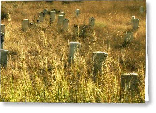 7th Army Greeting Cards - Little Big Horn Gravesite Greeting Card by Clare VanderVeen
