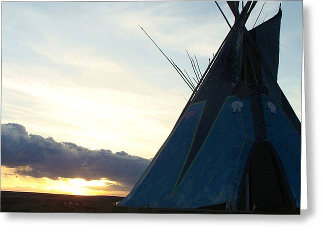 Little Big Horn Greeting Cards - Little BigHorn Sunset Greeting Card by Tracy Mendez