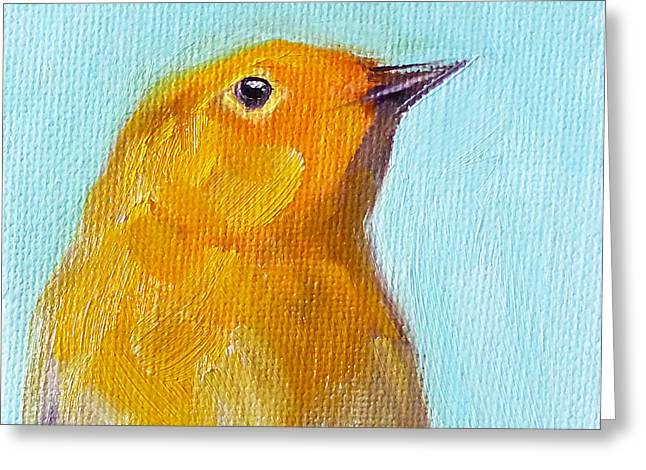 Nervous Paintings Greeting Cards - Little Bird Greeting Card by Nancy Merkle
