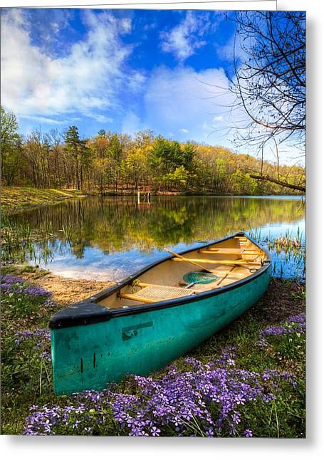 Tennessee River Greeting Cards - Little Bit of Heaven Greeting Card by Debra and Dave Vanderlaan