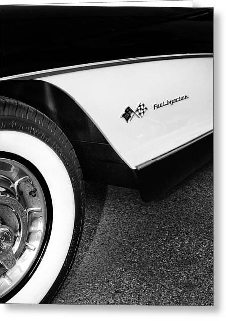 Little Black Corvette Palm Springs Greeting Card by William Dey