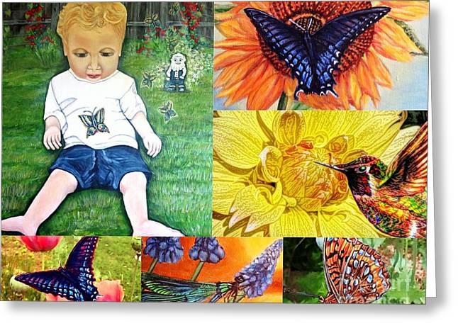 Eys Greeting Cards - Little Blessings From Heaven Collage without Text Greeting Card by Kimberlee  Baxter