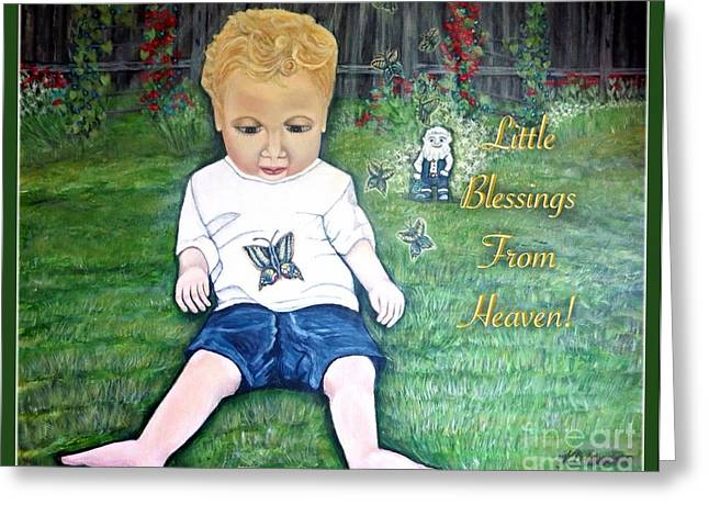 Eys Greeting Cards - Little Blessings from Heaven Greeting Card by Kimberlee  Baxter