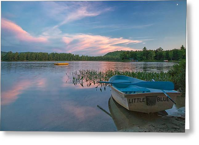 Maine Landscape Greeting Cards - Little Blue Greeting Card by Darylann Leonard Photography