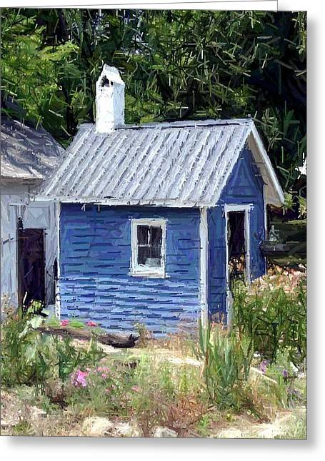 150th Commemoration Greeting Cards - Little Blue House - Perryville KY Greeting Card by Thia Stover