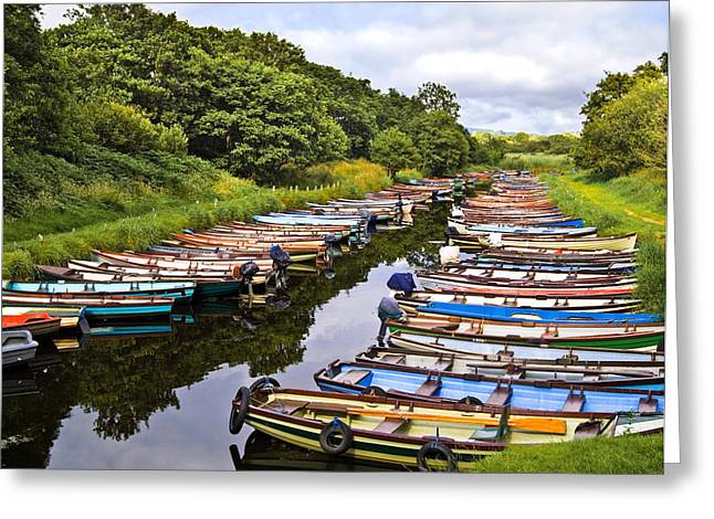 Jane Mcilroy Greeting Cards - Little Boats Greeting Card by Jane McIlroy