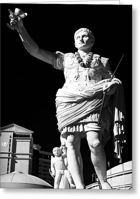 Caesars Palace Greeting Cards - Little Caesar Greeting Card by John Rizzuto