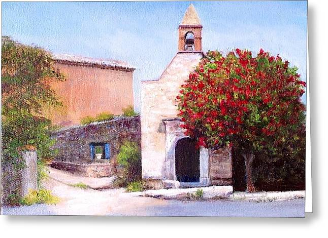 Cindy Plutnicki Greeting Cards - Little Chapel France Greeting Card by Cindy Plutnicki