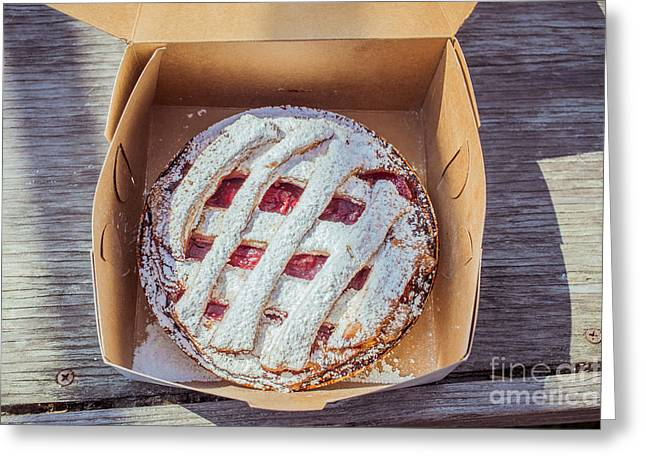 Take-out Photographs Greeting Cards - Little Cherry Pie Greeting Card by Edward Fielding