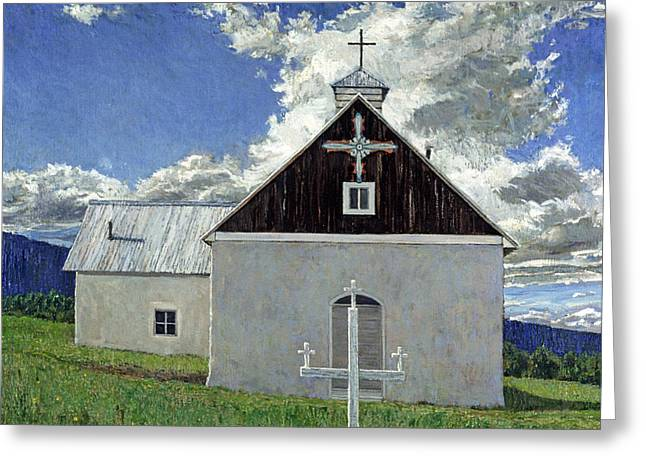 Little Church At Ocate Greeting Card by Steven Boone