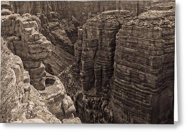 The Grand Canyon Greeting Cards - Little Colorado River Overlook Greeting Card by Dan Sproul