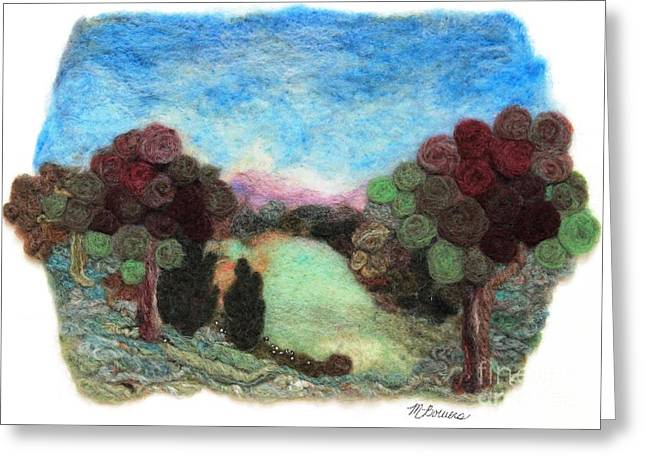 Wet Tapestries - Textiles Greeting Cards - Little Conemaugh Autumn Greeting Card by Michelle Bowers