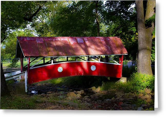 Covered Bridge Greeting Cards - Little Covered Bridge Greeting Card by Bill Cannon