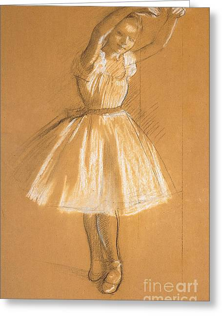 Ballet Dancers Drawings Greeting Cards - Little Dancer Greeting Card by Edgar Degas
