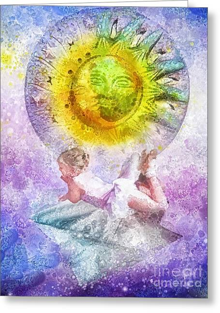 Imagination Mixed Media Greeting Cards - Little Dancer Greeting Card by Mo T