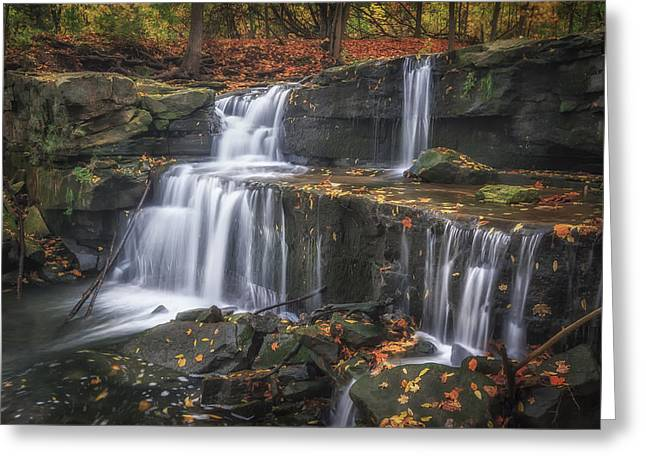 Waterfall Greeting Cards - Little Davis in the Fall Greeting Card by Mike Goodwin