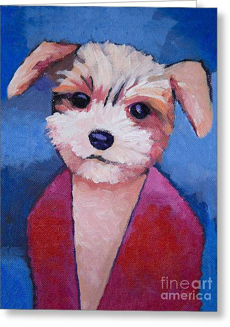 Dog Portraits Greeting Cards - Little Dog Greeting Card by Lutz Baar