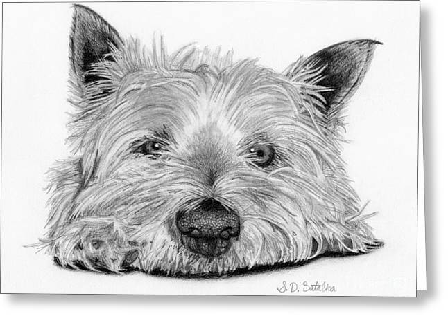 Little Dog Greeting Card by Sarah Batalka