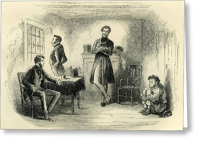 Little Dorrit In The Old Room Greeting Card by English School