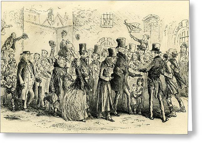 Little Dorrit The Marshalsea Becomes An Orphan Greeting Card by English School