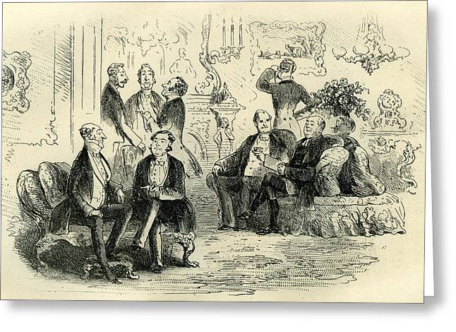 Little Dorrit The Patriotic Conference Greeting Card by English School