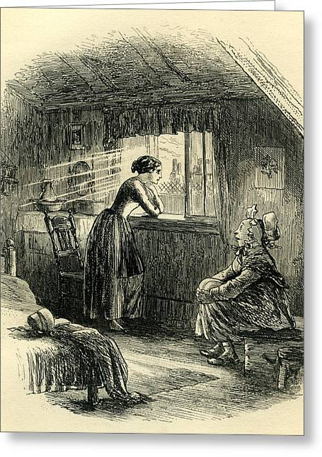 Little Dorrit The Story Of The Princess Greeting Card by English School