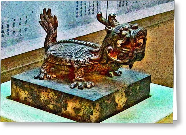 Allegoric Greeting Cards - Little Dragon. Made In China. Beijing. Secret City. Greeting Card by Andy Za