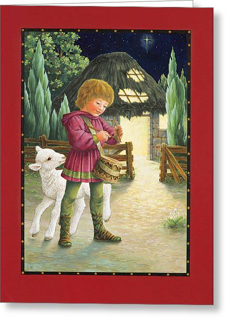 Christmas Star Greeting Cards - Little Drummer Boy Greeting Card by Lynn Bywaters