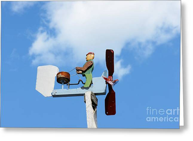 Weathervane Greeting Cards - Little drummer weathervane Greeting Card by Sylvie Bouchard