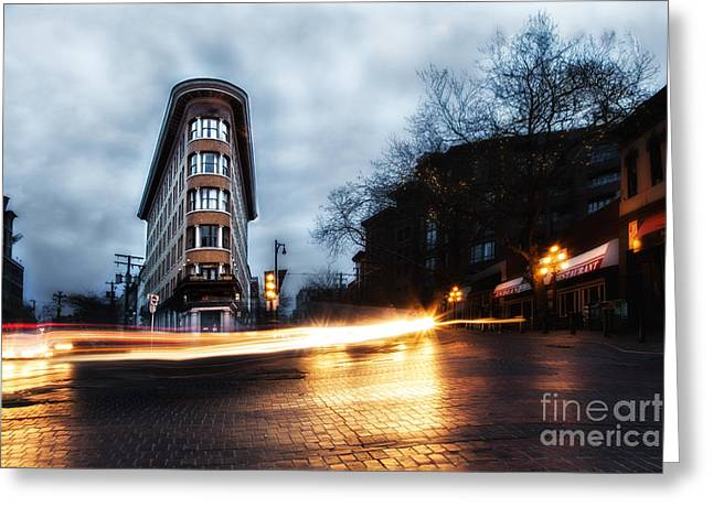 Commercial Photography Pyrography Greeting Cards - Little Flatiron Greeting Card by Jack Vainer